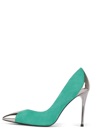 LURE-MCB Pump STRATEGY Blue Suede Green Suede 6