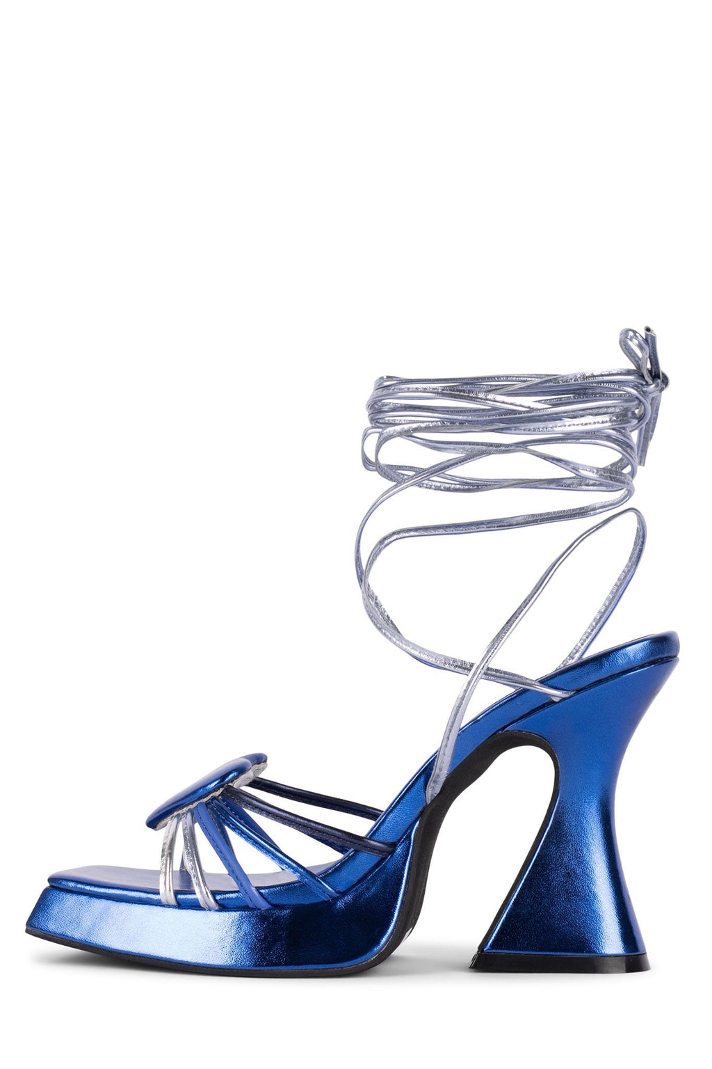 LUV-BELOW Platform Sandal HS Blue Metallic Multi 5