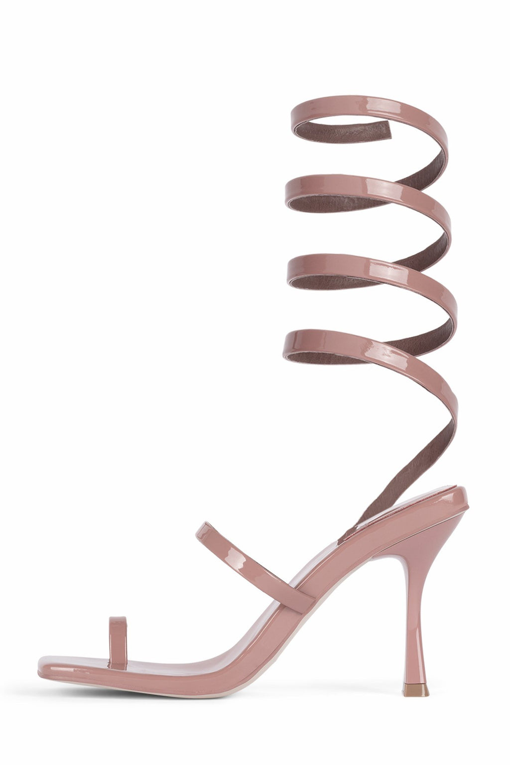LUZIA Heeled Sandal Jeffrey Campbell Dusty Blush Patent 5