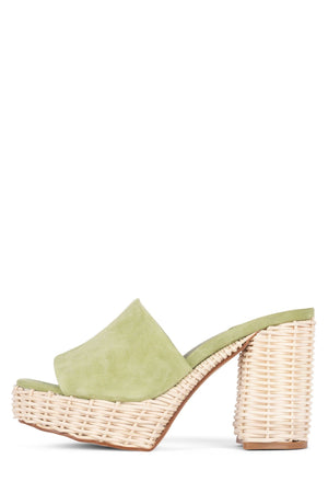 MAGDA-WKR HS Light Green Suede 6
