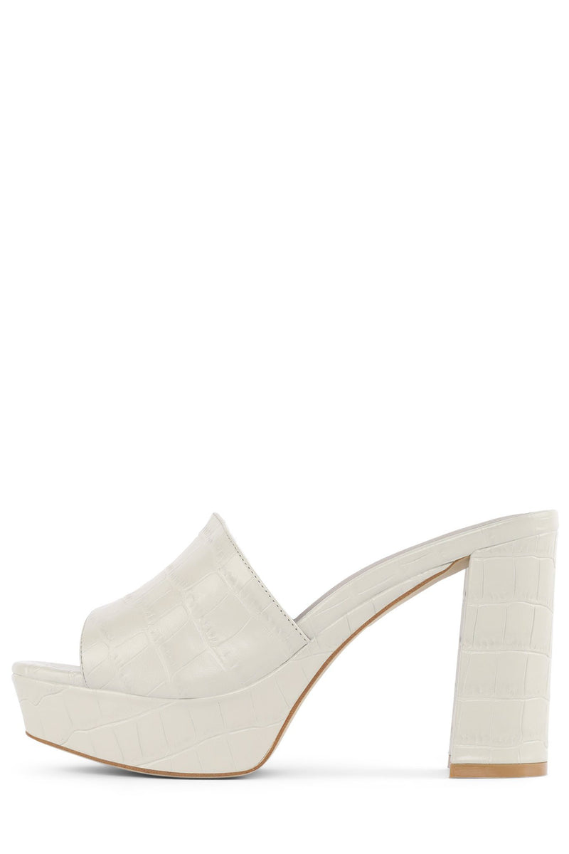 MAGDALEN Platform Mule STRATEGY Ivory Croco 6