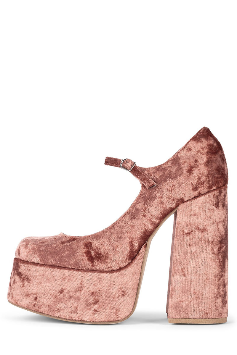 MARY-J HS Pink Crushed Velvet 5