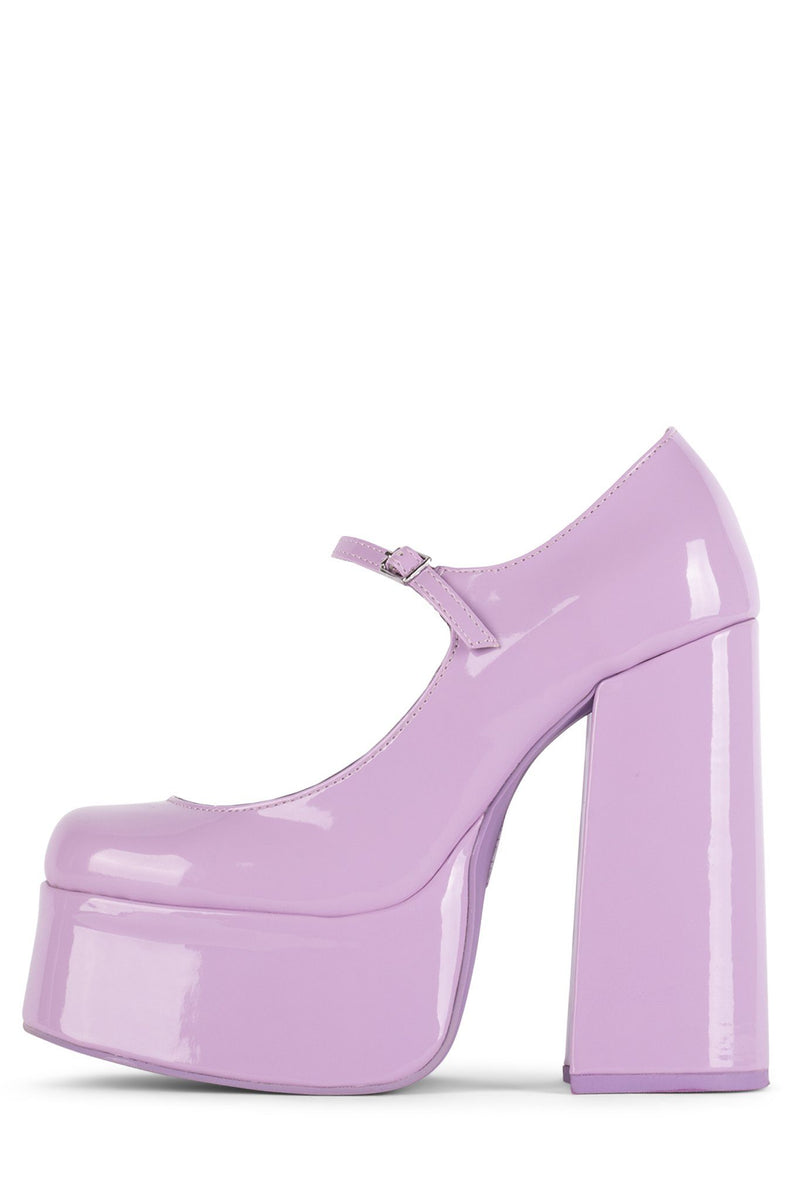 MARY-J Mary-Jane HS Bright Lilac Patent 5