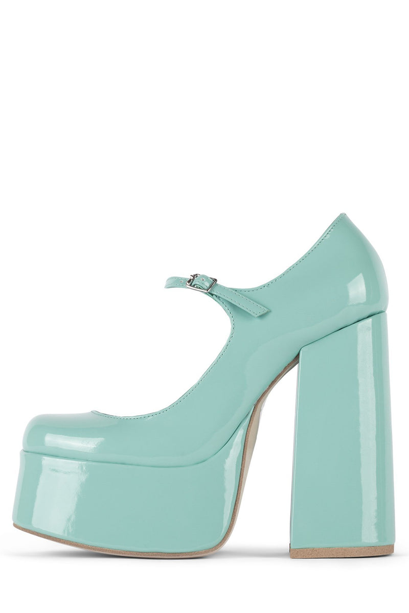 MARY-J Mary-Jane HS Seafoam Green Patent 5