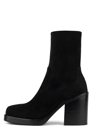 MAXEN-2 Platform Boot YYH Black Stretch Suede 6