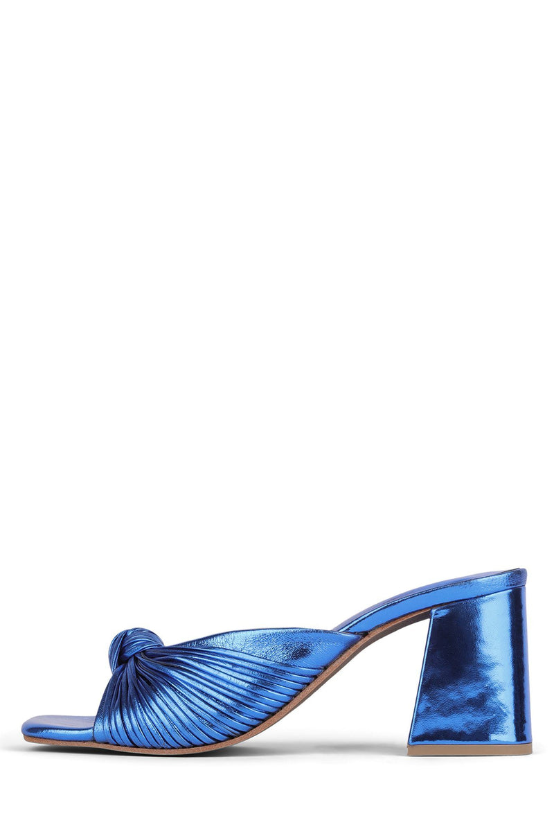 MELONGER Heeled Sandal Jeffrey Campbell Blue Metallic 6