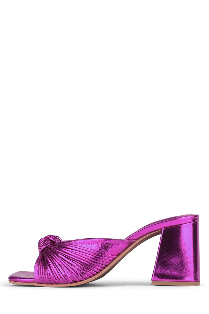 MELONGER Heeled Sandal Jeffrey Campbell Fuchsia Metallic 6