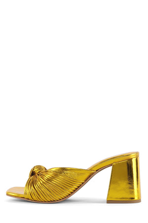 MELONGER Heeled Sandal Jeffrey Campbell Gold 6