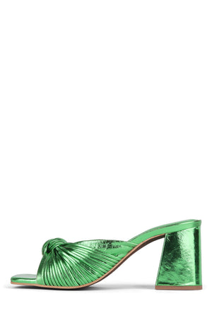 MELONGER Heeled Sandal Jeffrey Campbell Green Metallic 6
