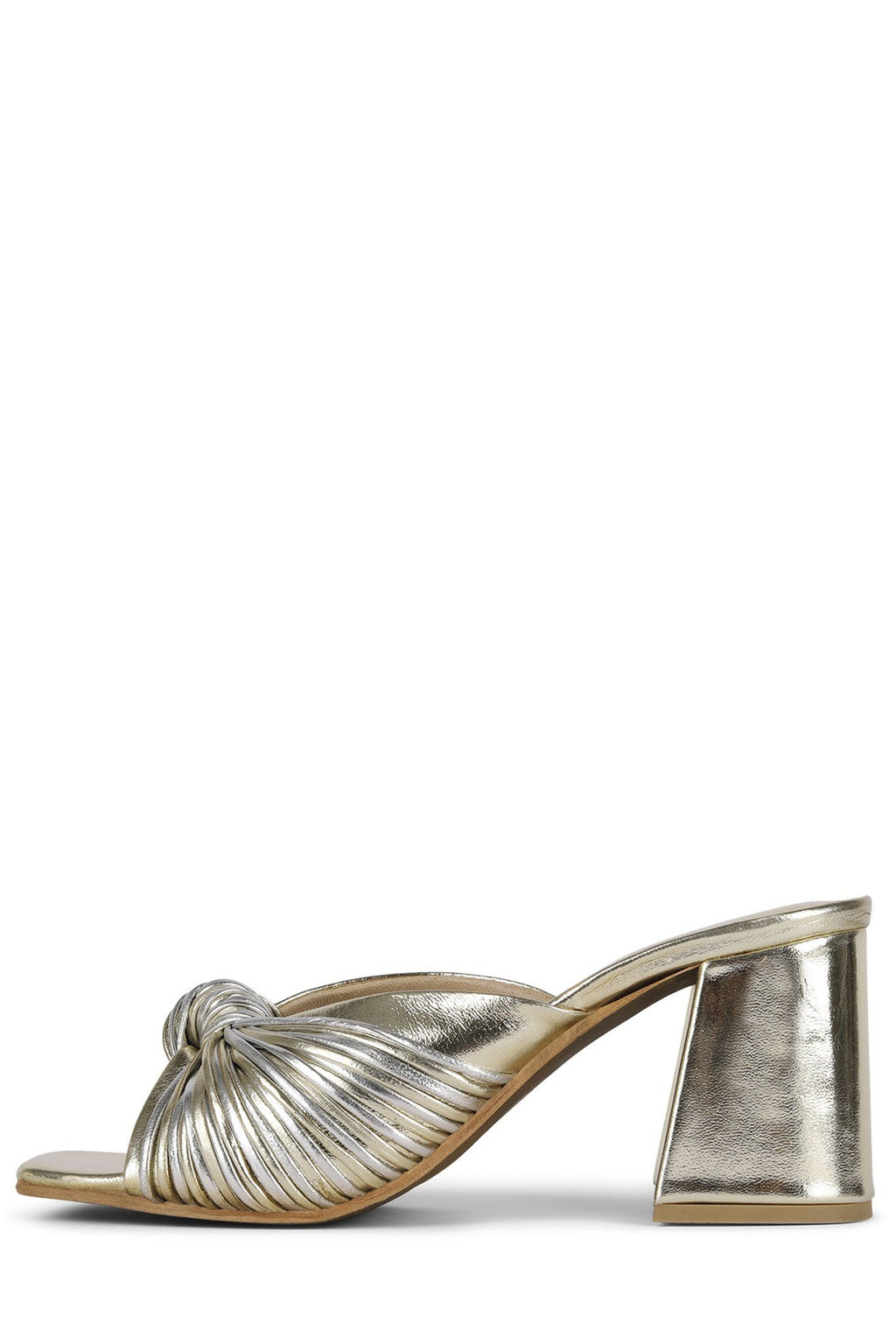 MELONGER Heeled Sandal Jeffrey Campbell Silver Gold 6.5