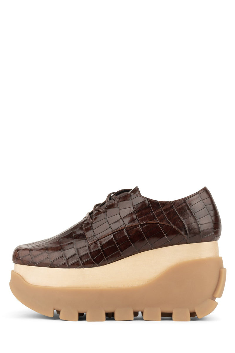 MIXE Oxford HS Brown Croco Natural 6
