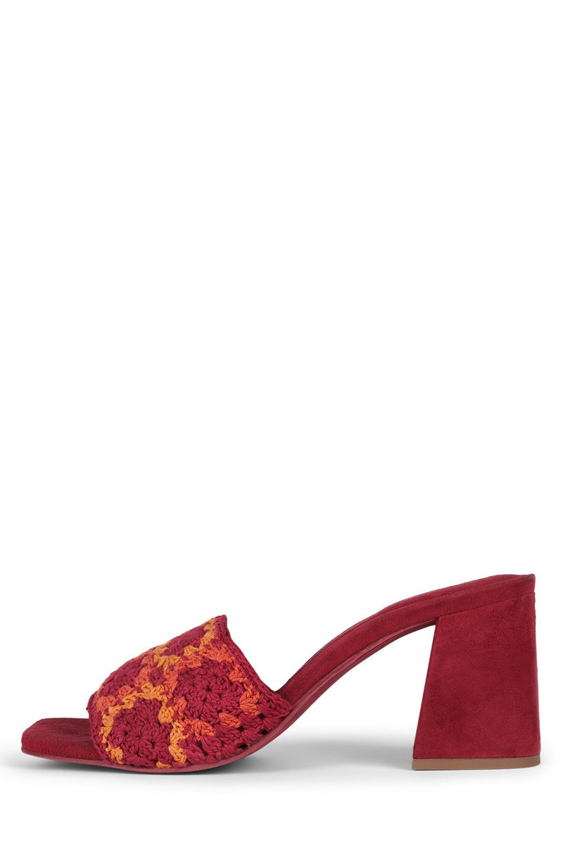MIXUP Heeled Sandal Jeffrey Campbell Red Multi 6