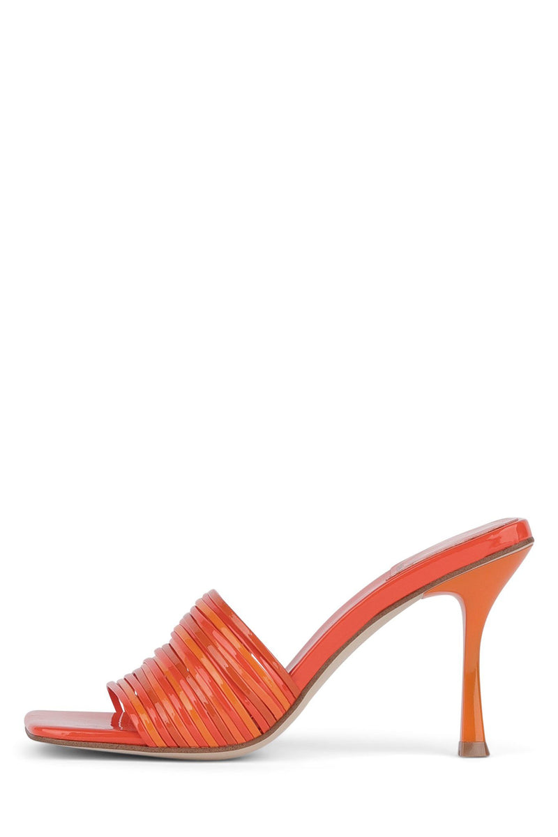MORINE Heeled Sandal YYH Orange Pat Combo 6