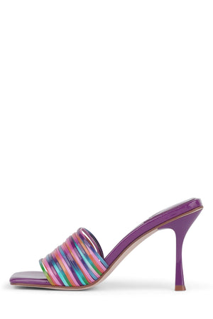 MORINE Heeled Sandal YYH Rainbow Purple 6