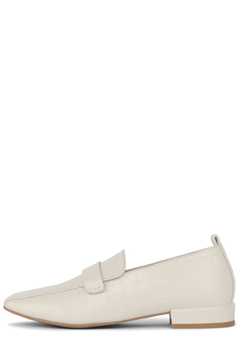 MORITZ Loafer Jeffrey Campbell Ivory Croco 5