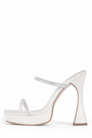 MOVIE Jeffrey Campbell White Satin Silver 6