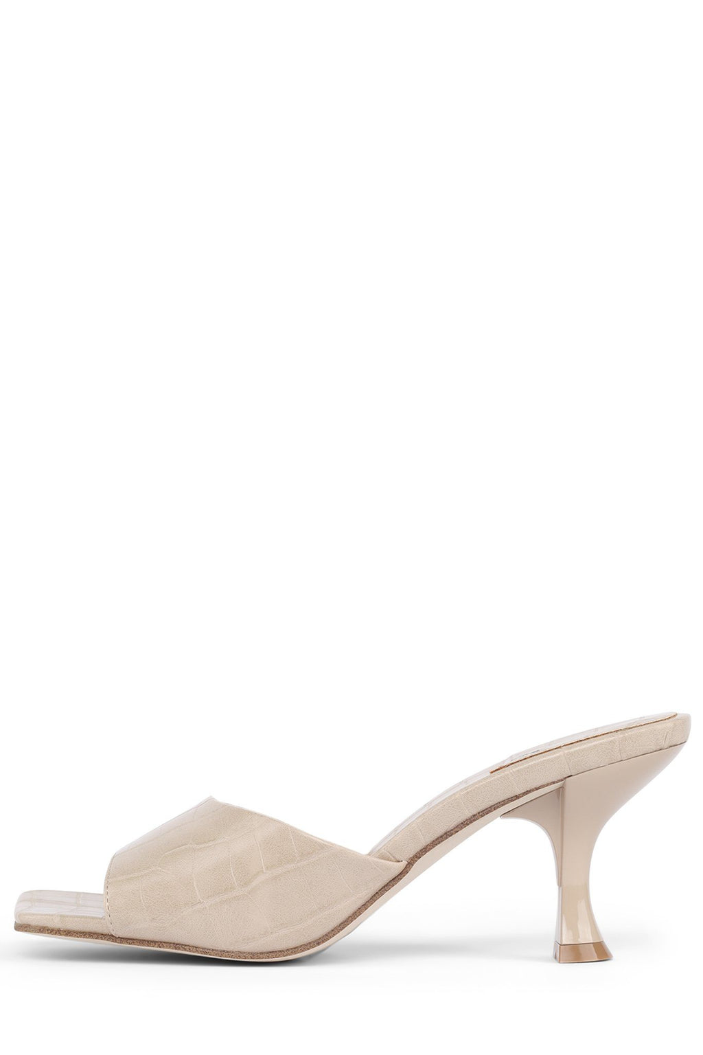 MR-BIG Heeled Sandal Jeffrey Campbell Nude Croco 6