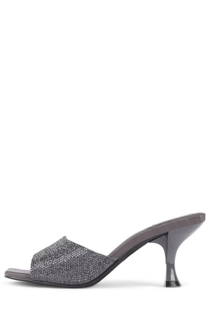 MR-BIG-J Heeled Sandal YYH Grey Satin Pewter 6