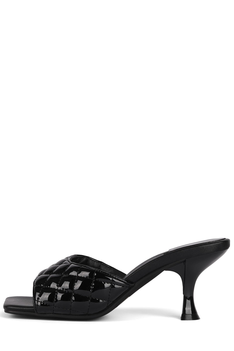 MR-BIG-Q Heeled Sandal Jeffrey Campbell Black Patent 6