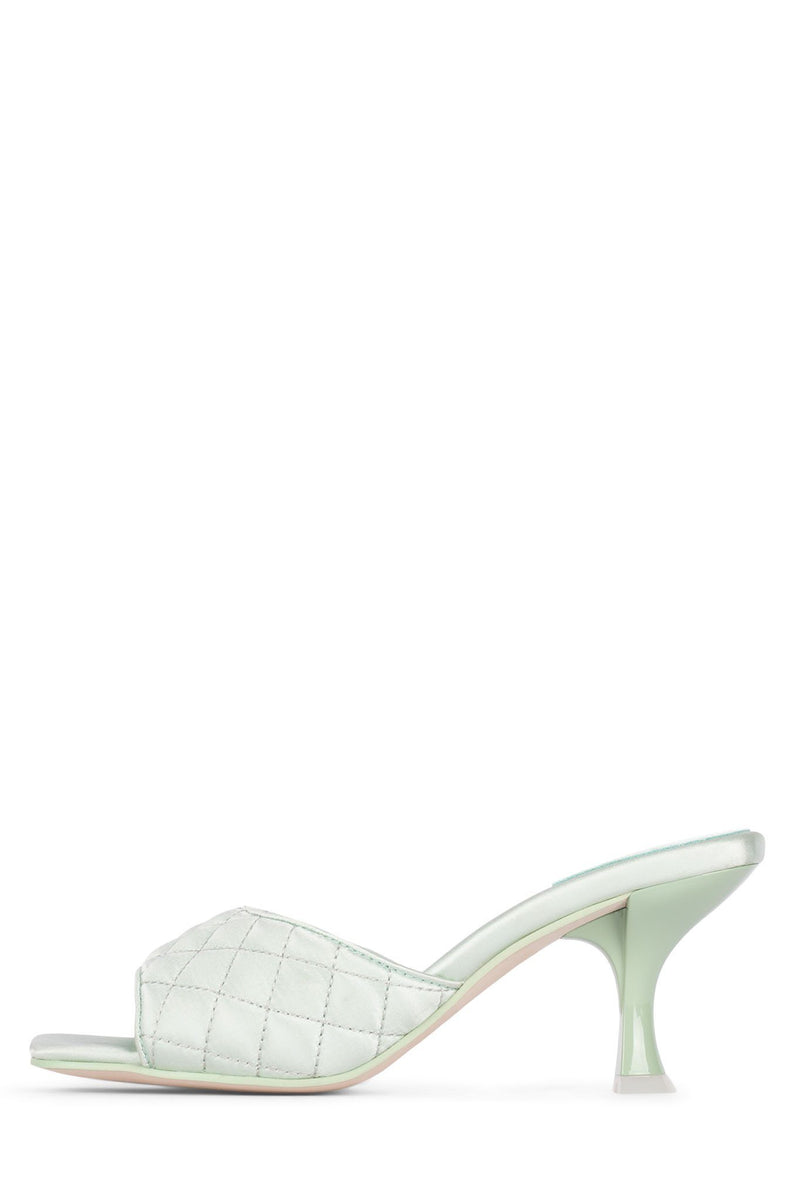 MR-BIG-Q Heeled Sandal YYH Mint Satin 5