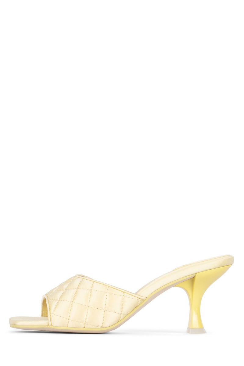 MR-BIG-Q Heeled Sandal YYH Yellow Pastel Satin 5