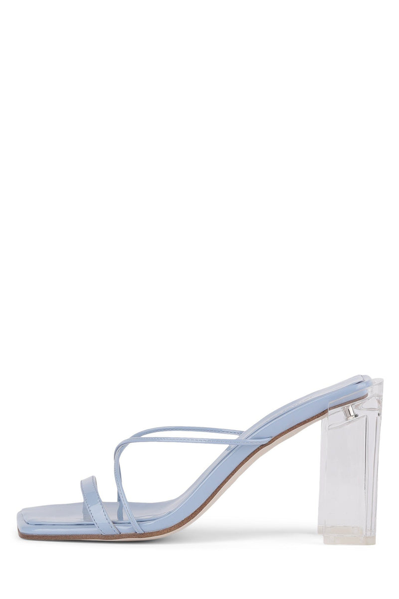 MURAL-HI Heeled Sandal YYH Sky Blue Patent Clear 7