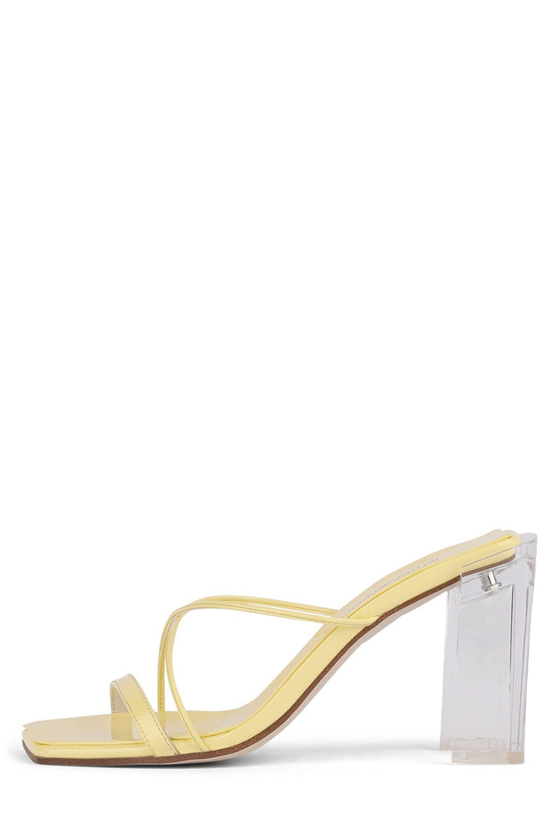 MURAL-HI Heeled Sandal YYH Yellow Patent Clear 7