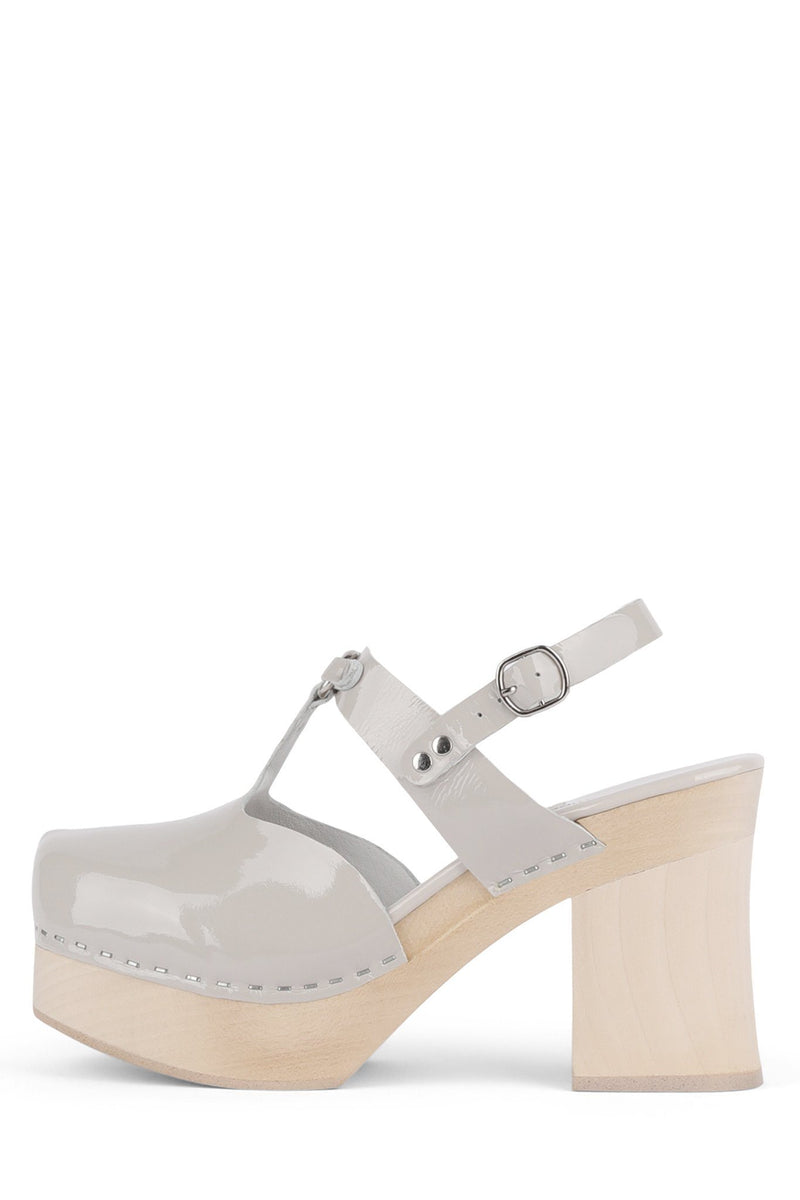 NYMPH Platform HS Light Grey Patent 6