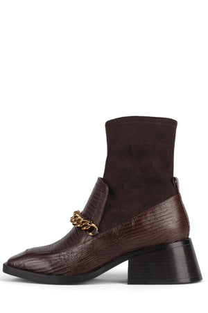 PATRIK-2CH Heeled Bootie DV Brown Lizard Brown Suede 6