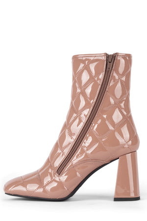 PATTI-Q Heeled Bootie YYH Dusty Pink Patent 5