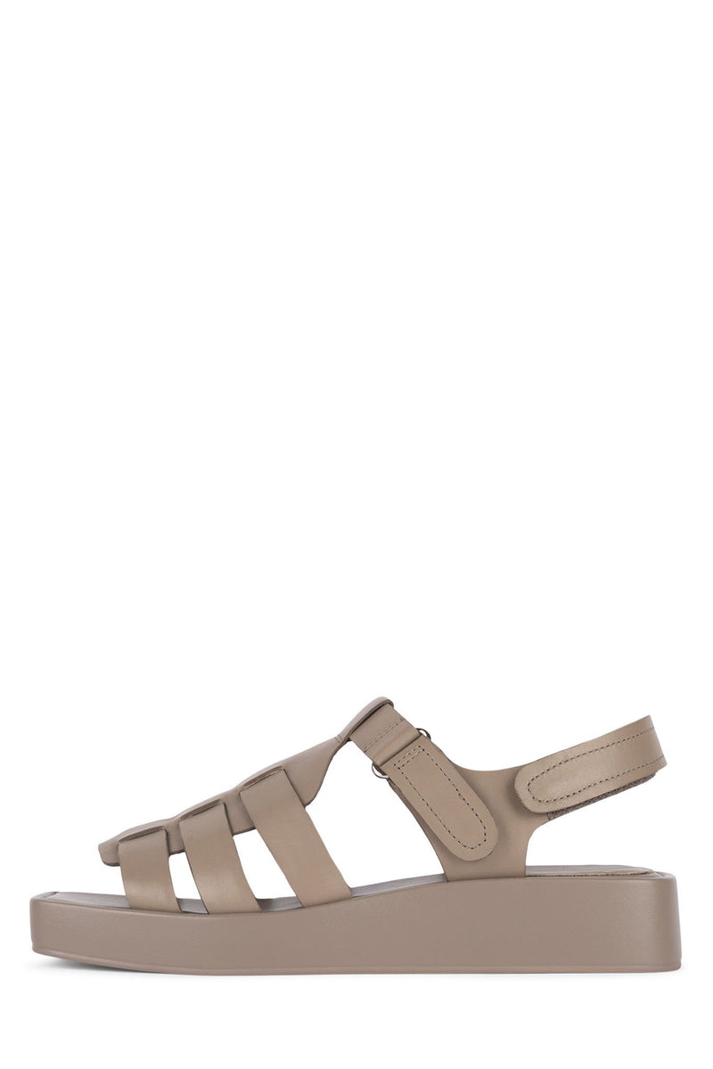 POISSON Flat Sandal Jeffrey Campbell Taupe 6