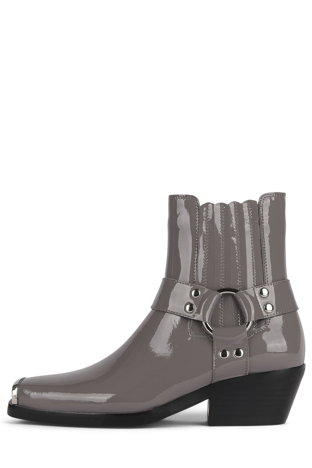 POKER-BK Boot YYH Grey Patent Silver 6