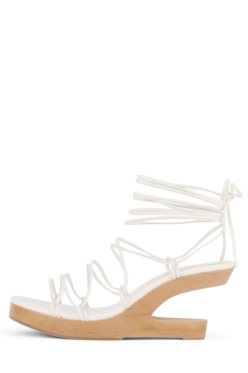 POSH-3 Wedge Sandal HS White 6