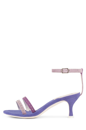 PRINZE Heeled Sandal ST Purple Suede Multi 6