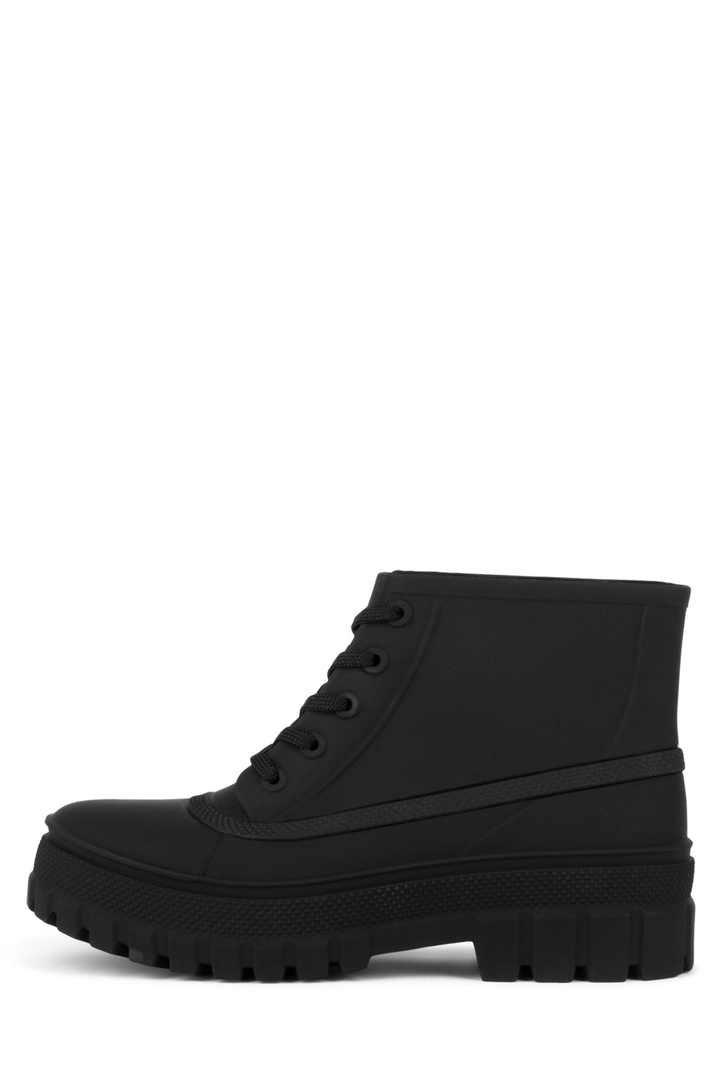 RAINCOAT Rain Boot Jeffrey Campbell Black Matte 6