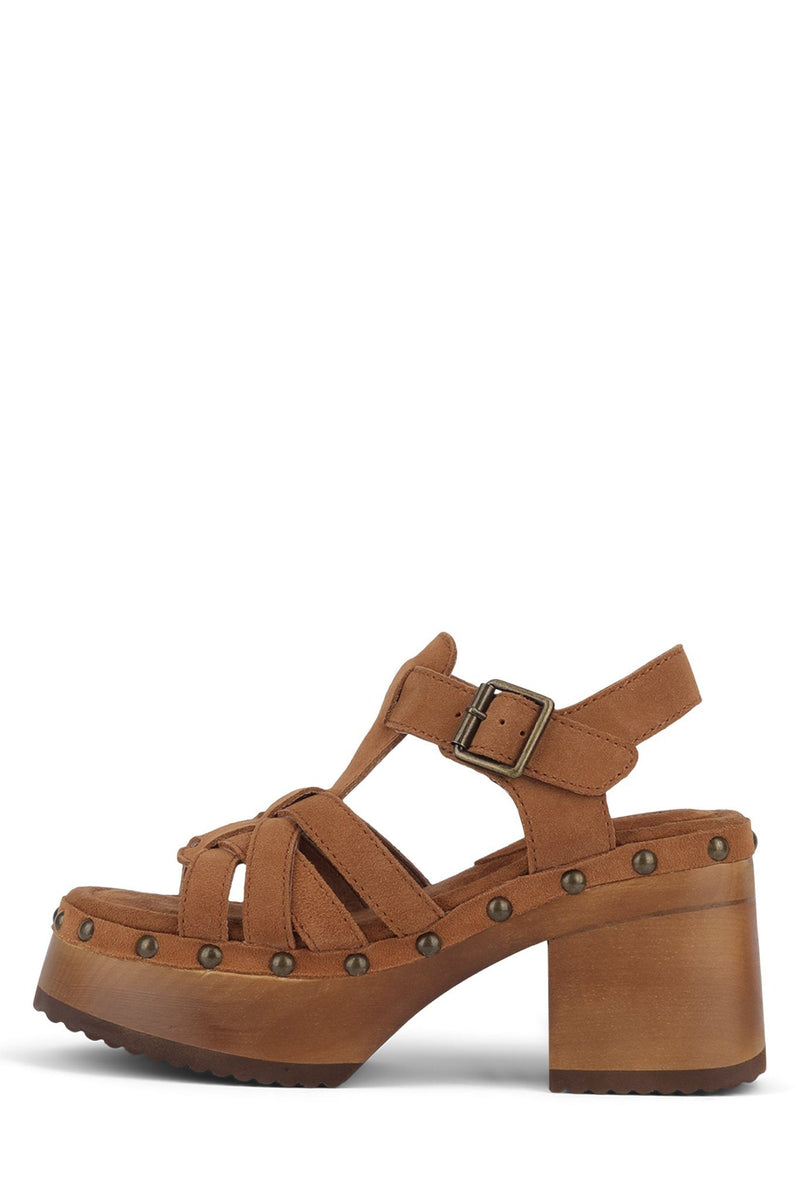 RING-IT Platform Sandal HS Tan Suede 6