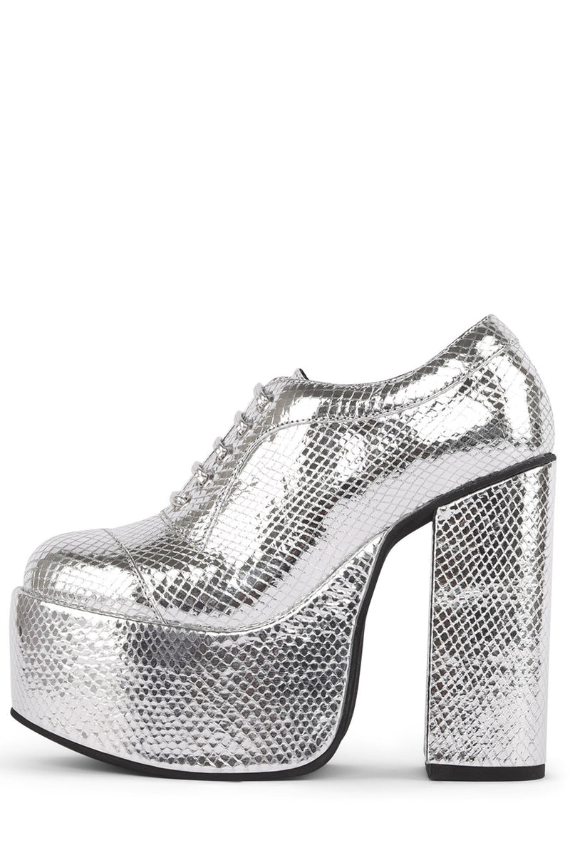 ROCK-OUT Oxford Jeffrey Campbell Silver Scales 6