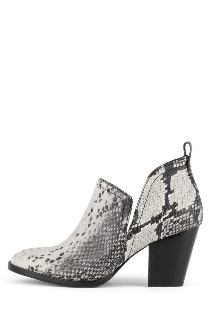 ROSALEE Heeled Boot Jeffrey Campbell Black White Snake 6