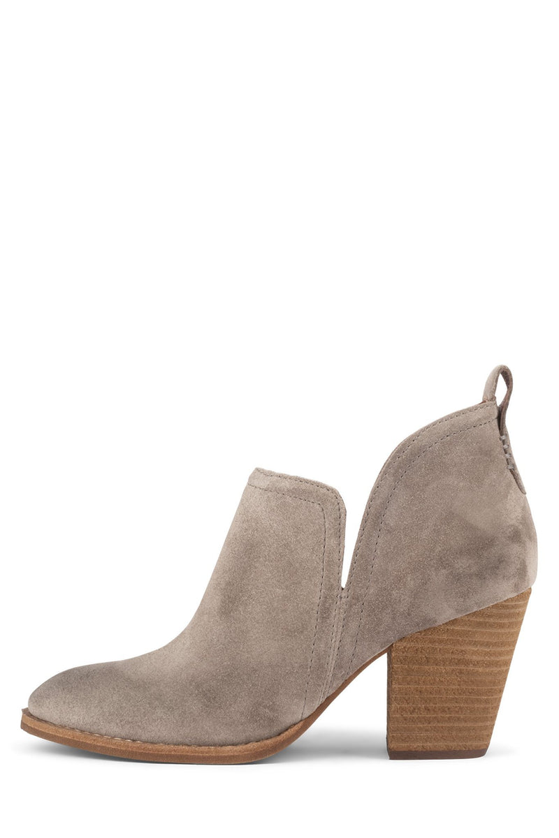 ROSALEE Heeled Bootie RH Taupe Suede 5