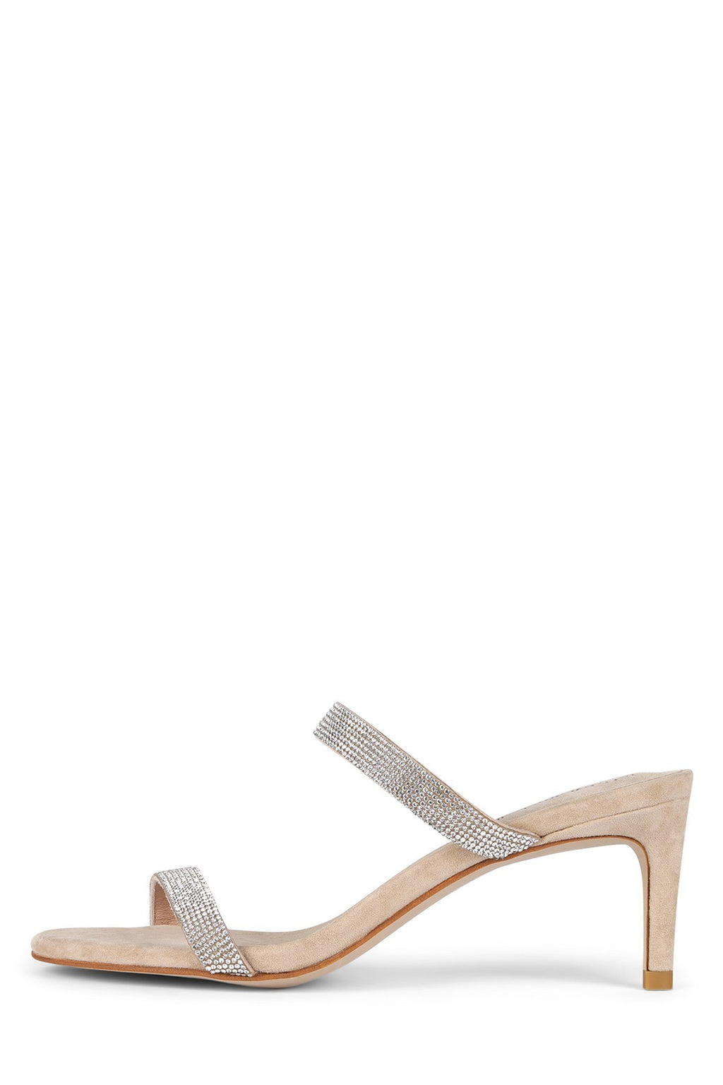 ROYAL Heeled Sandal Jeffrey Campbell Nude Suede Champagne 6