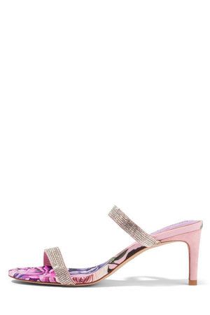 ROYAL Heeled Sandal STRATEGY Pink Roses Silver 6
