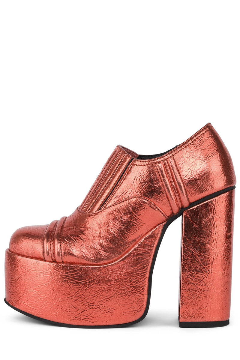 RUN-AWAY Platform Boot HS Red Metallic 6