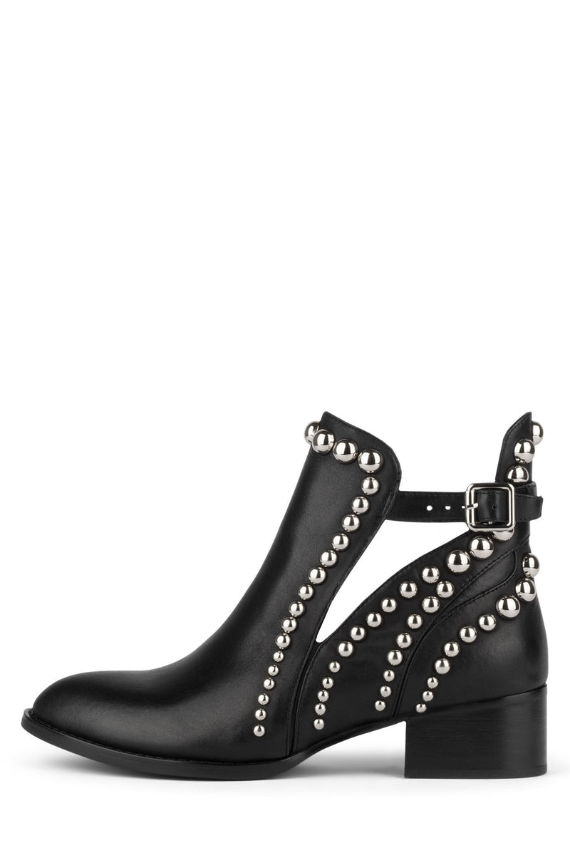 RYLANCE-ST Bootie Jeffrey Campbell Black Silver 6