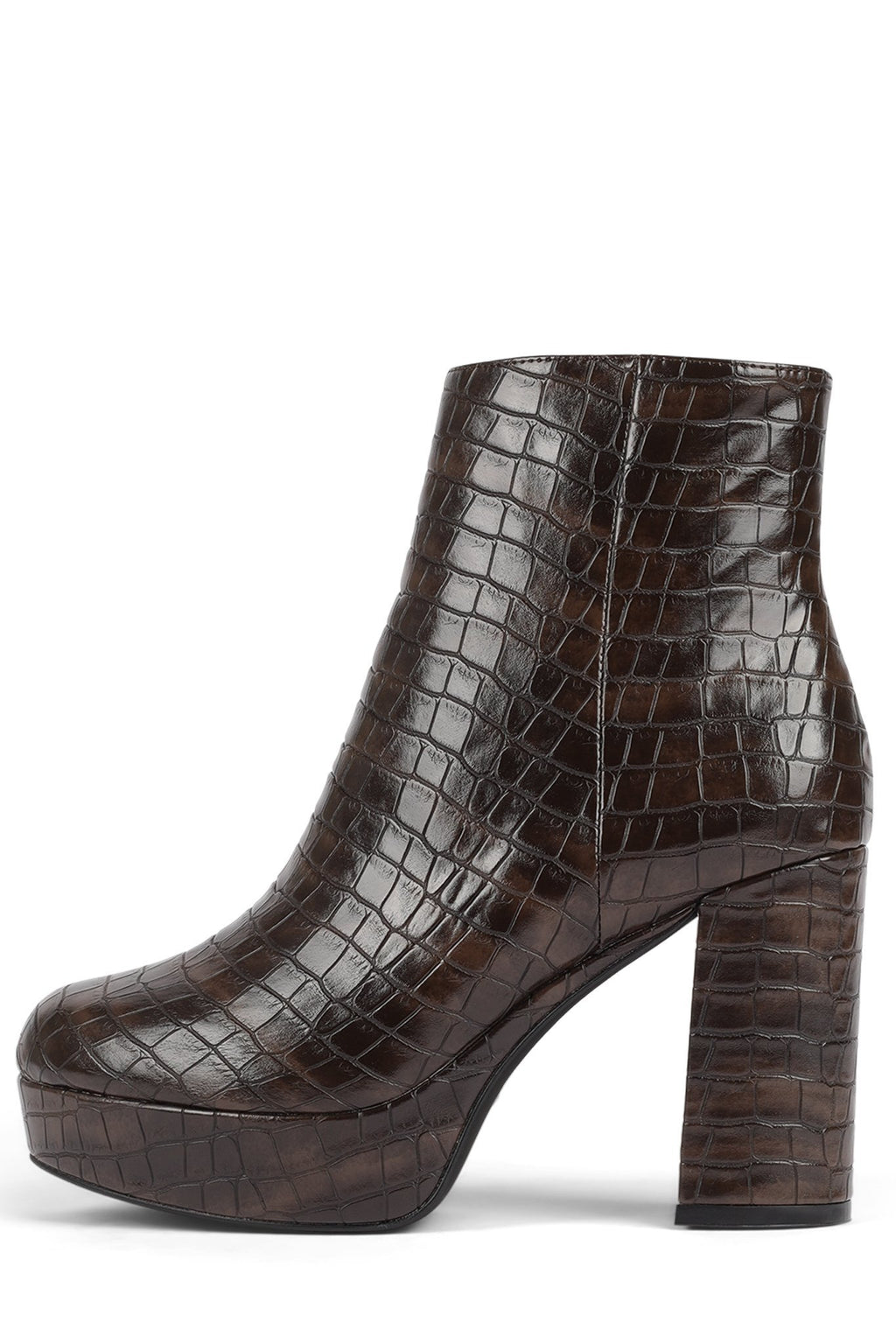 SAHAR Jeffrey Campbell Brown Croco 6