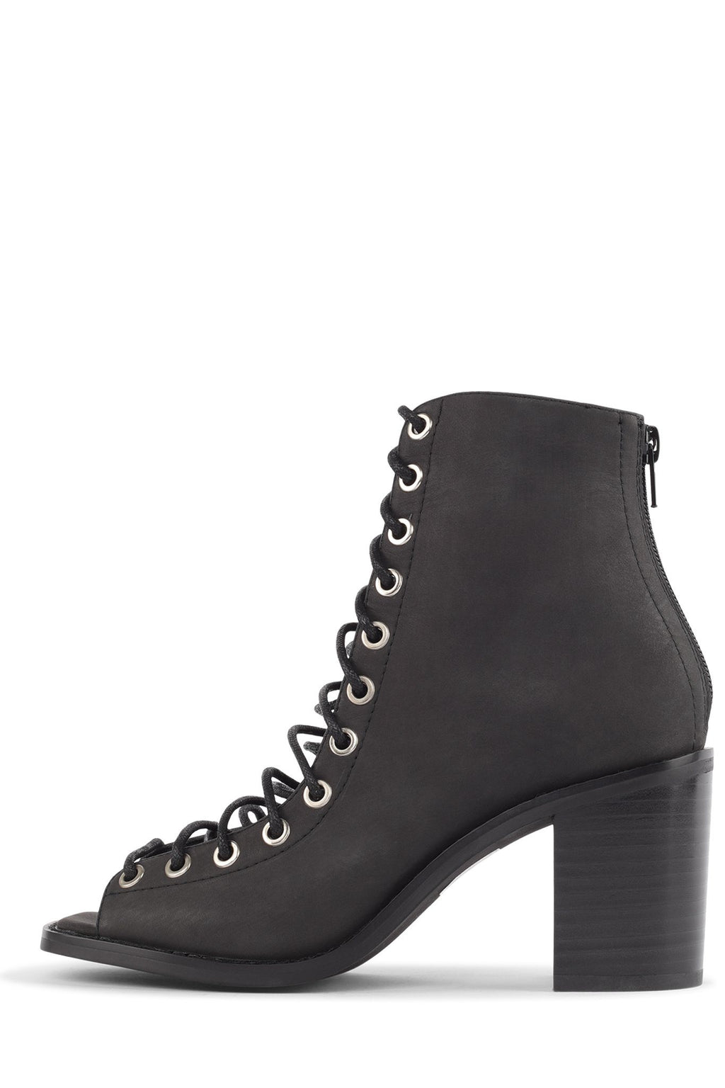 SEPTIMUS Heeled Bootie STRATEGY Black Washed 6