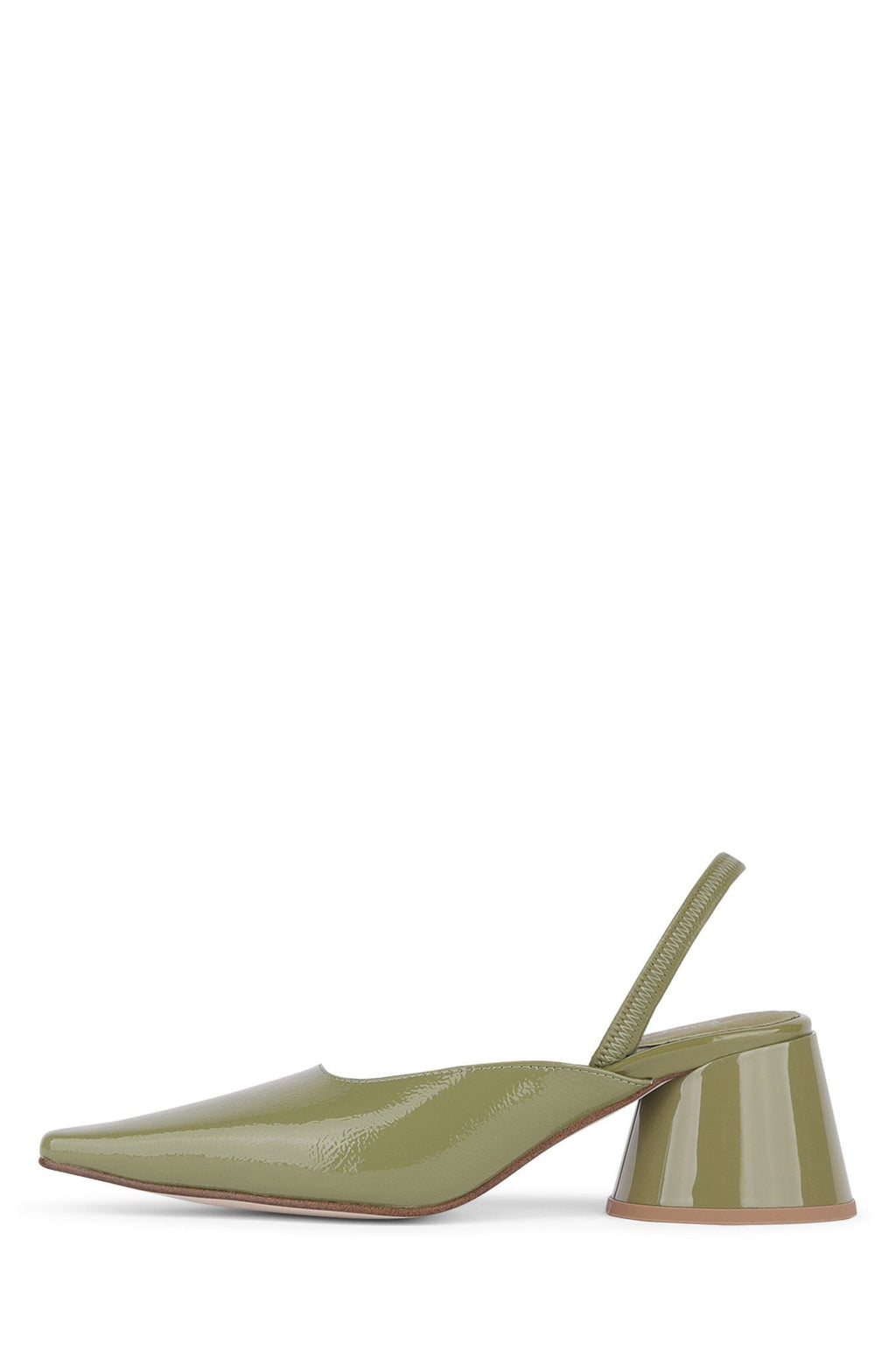 SERRA-S Heeled Mule YYH Dusty Green Patent 6