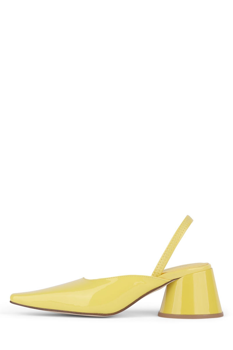 SERRA-S Heeled Mule YYH Dusty Yellow Patent 6