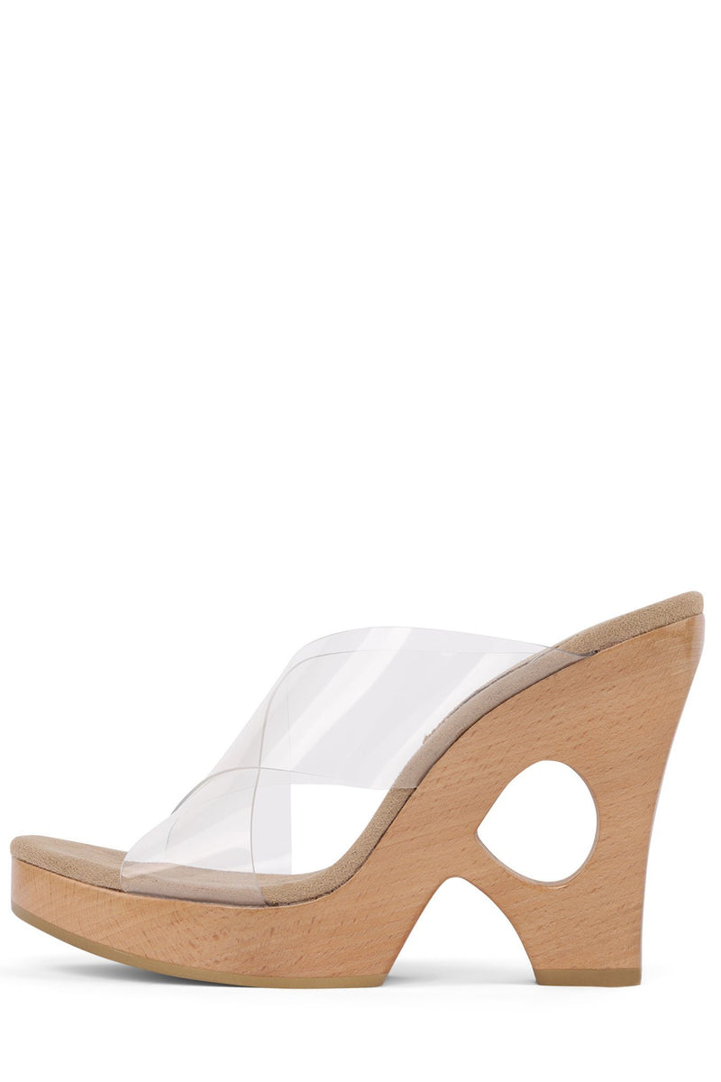 SIAH Wedge Sandal HS Clear 6