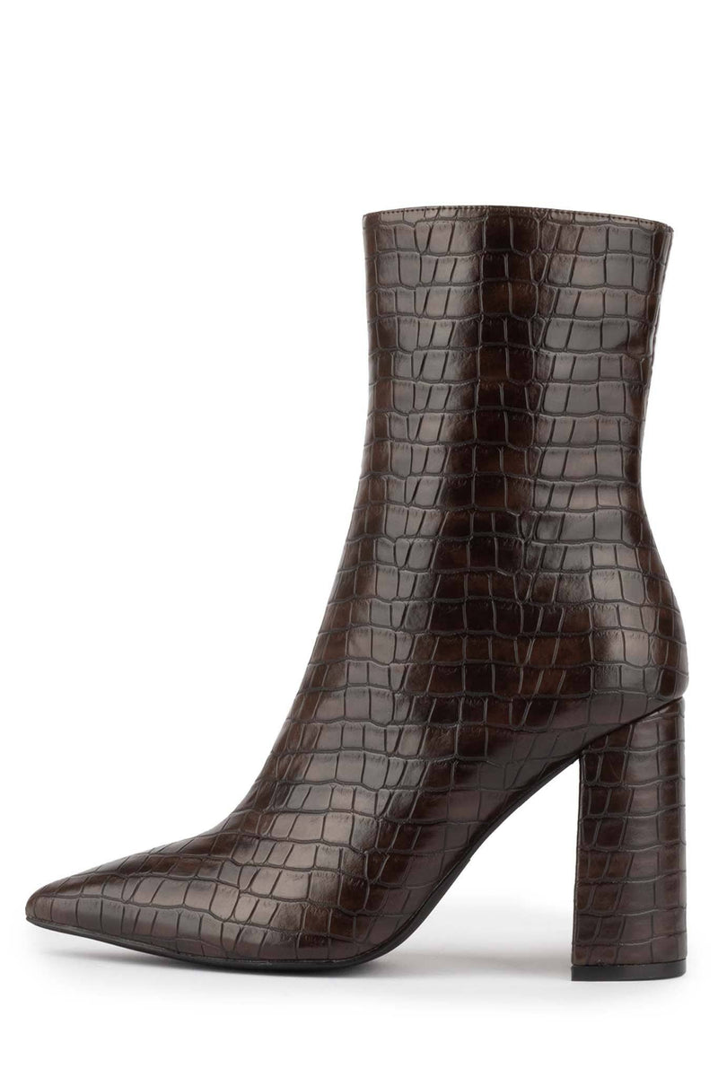 SIREN-3 Heeled Boot Jeffrey Campbell Brown Croco 6