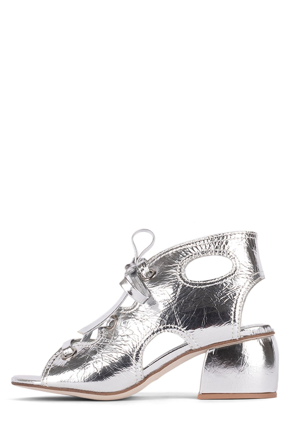 SIXTIES Heeled Sandal YYH Silver Crinkle 6